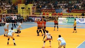 國際女子排球錦標賽比賽中。