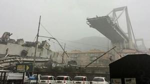 意大利總理孔特對熱那亞頒布為期一年的緊急狀態令。(圖源:AFP)