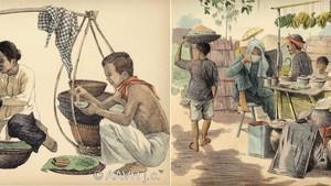 嘉定美術學校的學生創作嘉定肩挑小販速寫畫《Monographie dessinée de l'indochine:Cochinchine》於1935年出版。