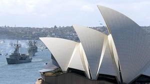 研究指悉尼面對海嘯的危機增加。圖為悉尼港一瞥。(圖源:AP)