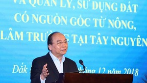 Prime Minister Nguyen Xuan Phuc speaks at the conference (Photo VNA)