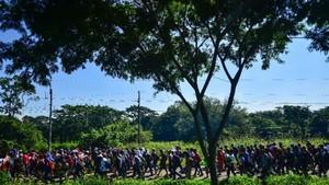 Honduran migrants march as Trump vows 'full efforts' to halt them