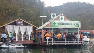 Thailand unveils first floating clinic