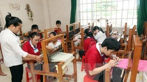 A vocational training class for disabled people (Photo: VNA)