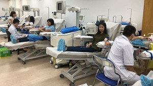 150 city dwellers donate blood for cancer children