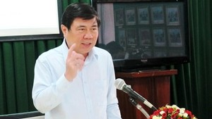 Chairman of HCMC People's Committee Nguyen Thanh Phong (Photo:SGGP)