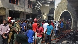 Scene of bomb attacks in Sri Lanka on April 21 (photo:EPA)