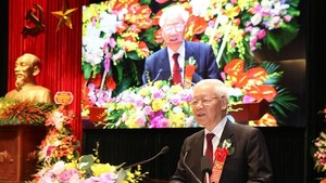 Party General Secretary and President Nguyen Phu Trong speaks at the event (Photo: VNA)