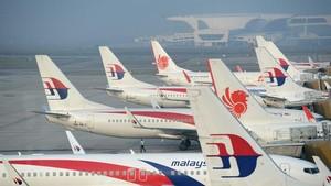 馬來西亞國家航空馬航的機隊。(圖源:互聯網)