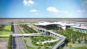 隆城機場可行性報告 5 月 30 日前須完成。圖為隆城機場效果圖。(圖源:越通社)