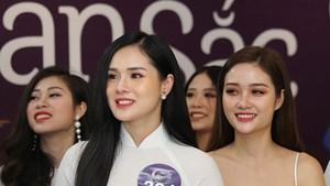 參加2019全球越南本色小姐選美比賽的佳麗。