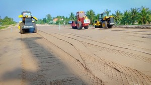 施工中的忠良-美順高速公路項目。(圖源:如瓊)