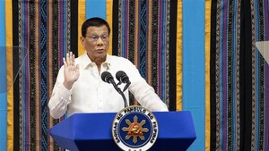 Philippine President Rodrigo Duterte speaks before the joint Congress in Manila on July 22 (Photo: AFP/VNA)
