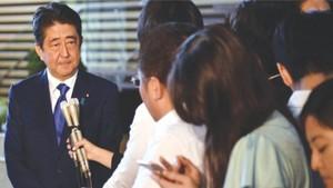 """日本首相安倍晉三表示日本""""絕不容忍""""朝鮮的危險行動。"""