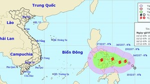 Position of typhoon Kai-tak (Photo: NHMFC)