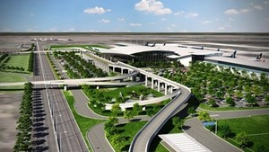 A perspective figure of Quang Ninh International Airport in Van Don Economic Zone (Photo petrotimes.vn)