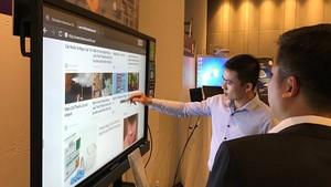 Interactive flat panels of BenQ (Photo: SGGP)