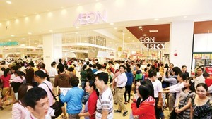 Aeon Mall in Tan Phu district, HCMC (Photo: SGGP)