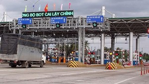 Cai Lay BOT tollbooth in Tien Giang province (Photo: SGGP)