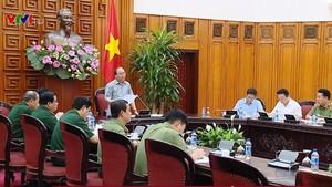 阮春福總理在會議上發表講話。(圖源:VTV視頻截圖)