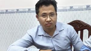被捕的歹徒黃廷創。(圖源:H.Sơn)