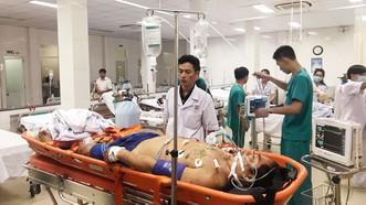 Bệnh nhân L.V.T. đang được điều trị tích cực tại bệnh viện