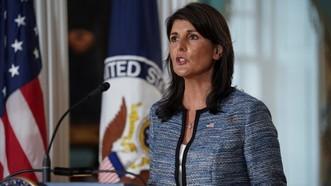 美國正式退出聯合國人權理事會,美駐聯合國大使妮基‧黑莉批評人權理事會是一個虛偽、自私的組織。(圖源:路透社)