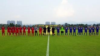 越南U19與梅縣區鐵漢隊出賽陣容。