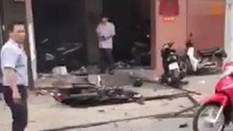 爆炸現場一瞥。(圖源:法律報視頻截圖)