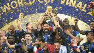 法國球員慶祝進球。(圖源:互聯網)