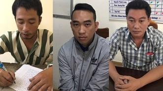 被抓獲的3名歹徒。