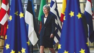 10月17日,比利時布魯塞爾,英國首相特雷莎·梅出席歐盟秋季峰會,英國脫歐是此次峰會討論重點之一。(圖源:互聯網)