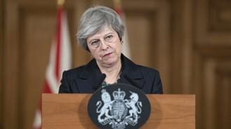 英國首相特蕾莎‧梅。(圖源:EPA)