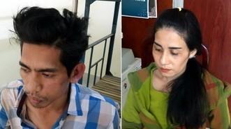 被當場抓獲的2名盜竊香油錢歹徒。(圖源:瓊江)