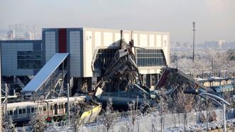 土耳其火車相撞事故現場。(圖源:互聯網)