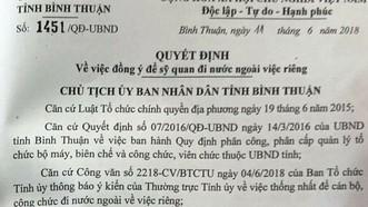 Bí thư Tỉnh ủy Bình Thuận lên tiếng vụ đoàn công tác đến Đức bằng tiền doanh nghiệp
