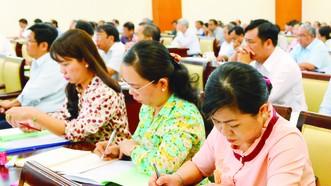 Lớp bồi dưỡng,  cập nhật kiến thức cho cán bộ quản lý (đối tượng 3)  của TPHCM   Ảnh: VIỆT DŨNG