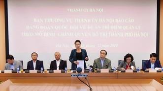 Chủ tịch Quốc hội Nguyễn Thị Kim Ngân phát biểu tại buổi làm việc.