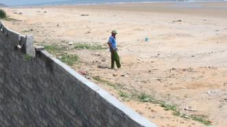 Khu vực bãi biển ở xóm Phú Hải, xã Kỳ Phú, huyện Kỳ Anh, tỉnh Hà Tĩnh