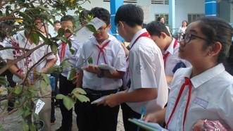Giờ học môn Sinh lớp 6 ở Trường THCS Nguyễn Gia Thiều (quận Tân Bình)