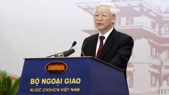 Tổng Bí thư Nguyễn Phú Trọng phát biểu chỉ đạo hội nghị
