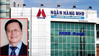 Ông Huỳnh Nam Dũng (ảnh nhỏ), cựu Chủ tịch HĐQT MHB