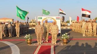 """Lực lượng Ai Cập và Saudi Arabia tham gia cuộc tập trận quân sự chung """"Tabuk 4"""" ở Ai Cập, ngày 10-10. Ảnh: Ahram"""