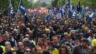 Công nhân tham gia biểu tình. Nguồn: smh.com.au.