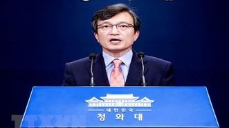 Người phát ngôn Phủ Tổng thống Hàn Quốc  Kim Eui-kyeom. (Ảnh: Yonhap/TTXVN)