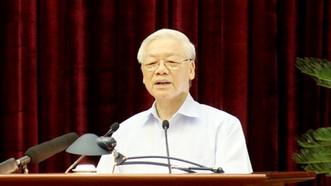 Tổng Bí thư Nguyễn Phú Trọng phát biểu chỉ đạo Hội nghị. Ảnh: VGP