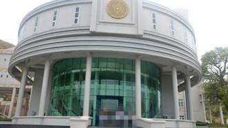 Công trình Nhà Bảo tàng tỉnh đã được hoàn thành phần xây dựng nhưng vẫn chưa mở cửa phục vụ khách. Ảnh: Báo Bà Rịa - Vũng Tàu
