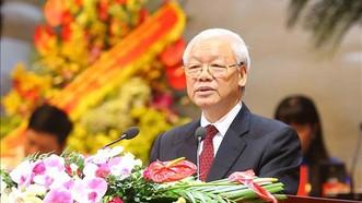 Tổng Bí thư Nguyễn Phú Trọng phát biểu chỉ đạo tại Đại hội Công đoàn Việt Nam lần thứ XII