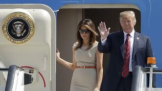 Tổng thống Mỹ Donald Trump và phu nhân.Ảnh : Daily Mail