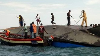 坦桑尼亞一艘船傾覆至少86人死